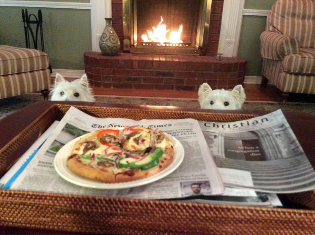 All eyes are on the veggie pizza!